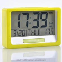 LCD Desktop table digital alarm weather station clock with thermometer