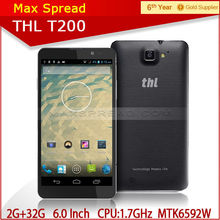 "Best-selling THL phone MTK6592 octa core 2GB RAM 13.0MP camera 6"" Android 4.2 THL T200 touchscreen phone"