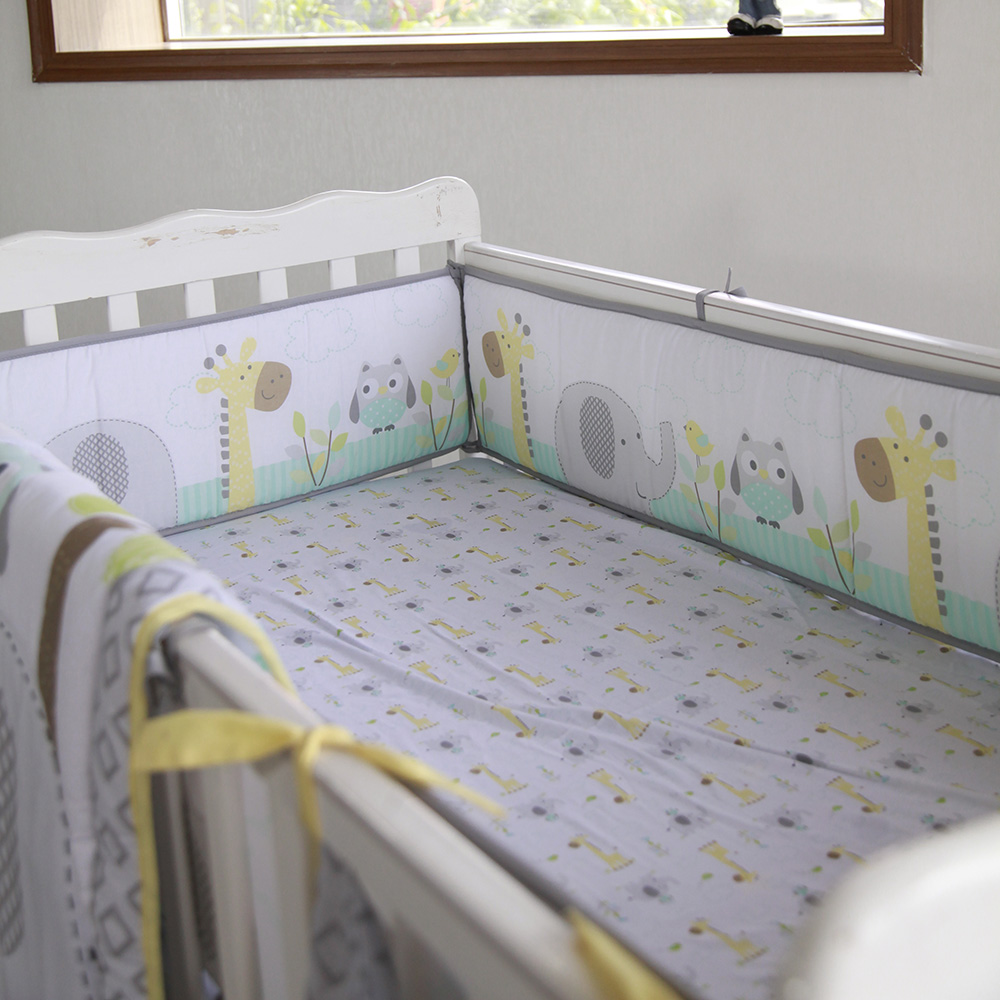OEKO-TEX CERTIFICATE 100 cotton baby deer crib nursery bedding supplier