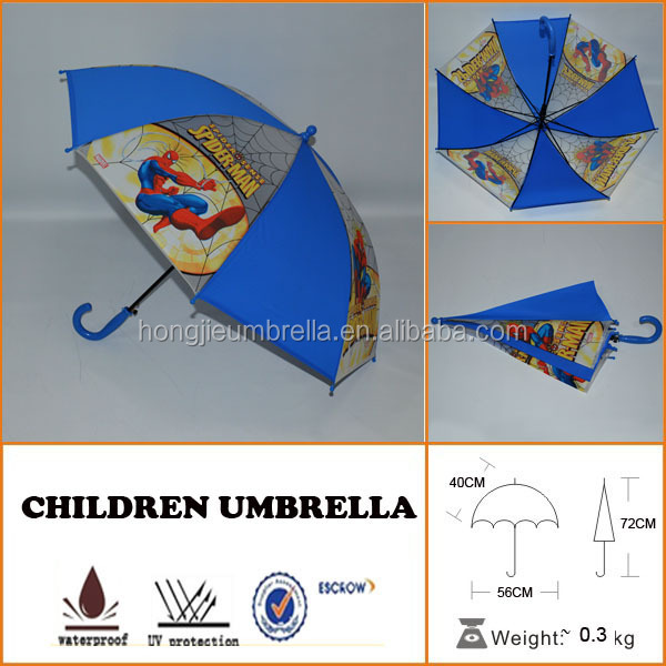 new promotion boy's pretty children umbrellas with spiderman pattern