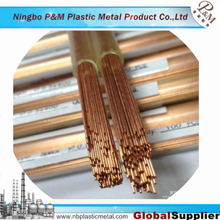 EDM 0.20mm x 200mmL Small single small hole copper/brass electrode tube/pipe for drilling machine 0.20mm x 200mmL Small