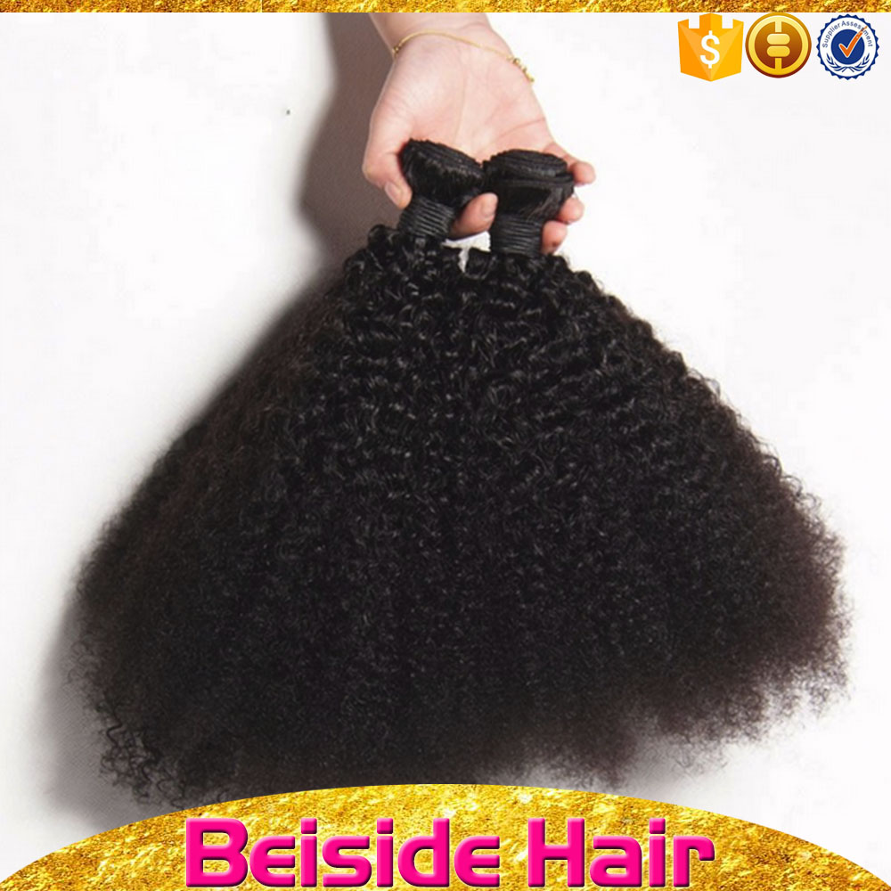 Unprocessed Wholesale Raw Virgin Weave Natural Black Color Cheap 100 Remy Human Hair extension Afro Kinky