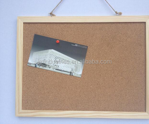 wooden frame cork message board