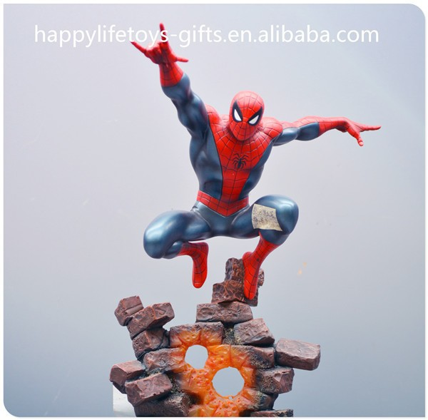Spider-man paint resin figure