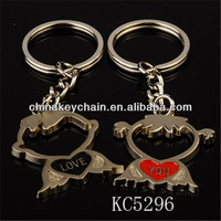 A Boy And A Girl Modelling Of Hollow Out Metal Key Chain