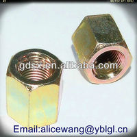 Precision brass inner thread tube nut,tube connecting nut