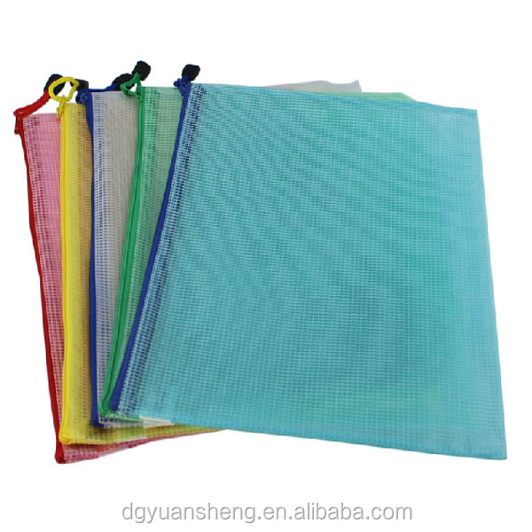 custom mesh zipper file folder bag wholesale