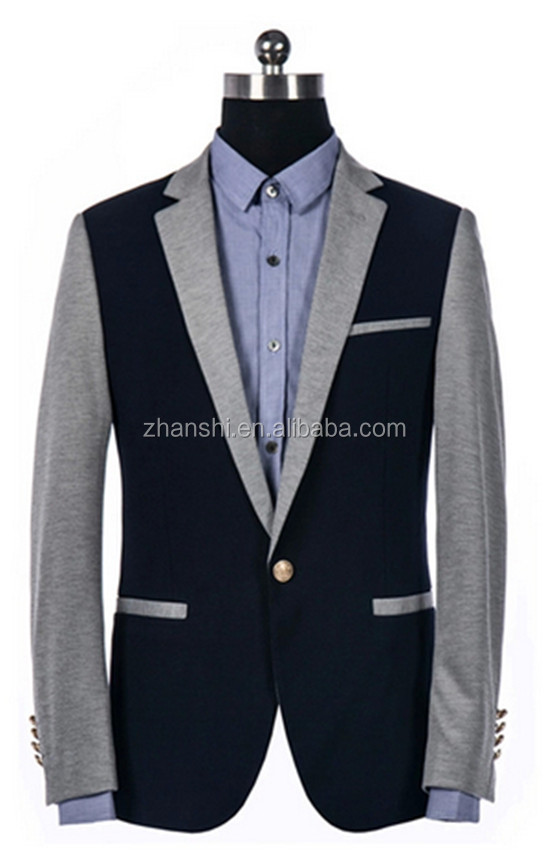 Korean Style Color Matching Casual Suit For Men