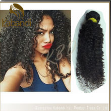 2015 New Arrival No Tanagle and No Shedding Soft 100% Raw Unprocessed Afro Kinky Curly Virgin Hair Weave Extension Afro Curly Ha