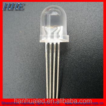 Through Hole type 5mm 10mm Bullet RGB ultra light LED diode