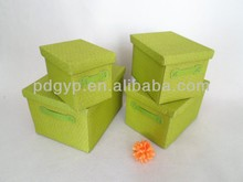 Fashion-designed Paper Fabric Cardboard Storage Box with Lid
