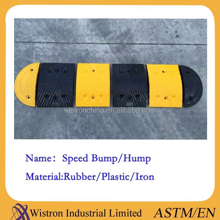Road safety rubber speed hump/road speed bump/speed breaker