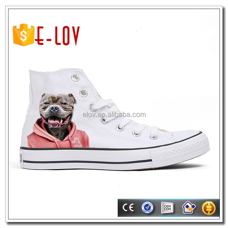 New style printed pet patterns sneakers ladies summer shoes