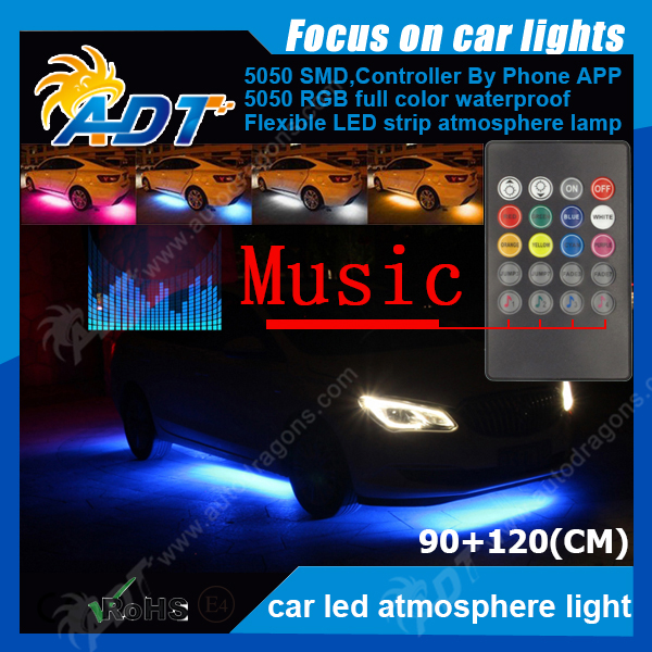 Car Under Glow Underbody 7 Color Flexible LED Strip Neon Lights Kit +Remote