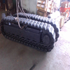 10T steel track undercarriage chassis with rubber pads installed