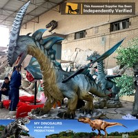 MY Dino-M30 Attactive Smoking Chinese Animatronic Dragon for sale