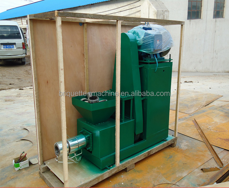 Hollow stick briquette shape wheat straw charcoal making machine for sale