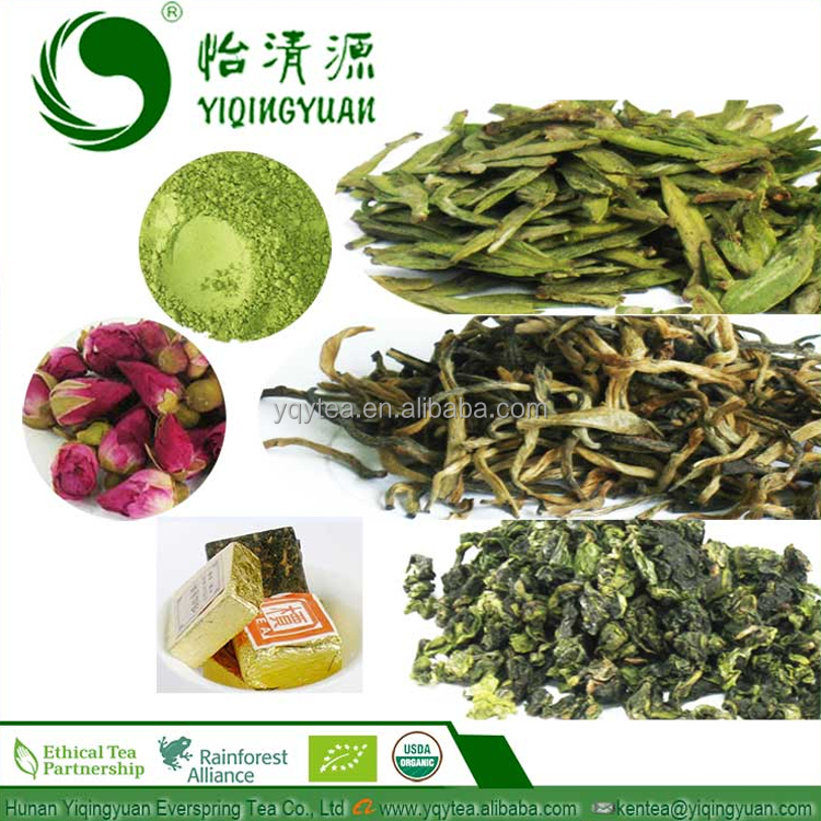 B01A Chinese Organic Slimming Puer Matcha White Oolong Black Green Tea, Rose Flower Detox Herbal Bubble Tea