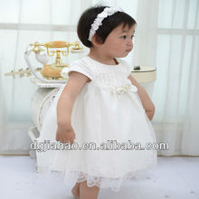 2013 latest fashion comfortable Korean wear baby girls party dress design