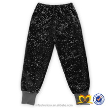 Girls Fashion 2016 Leggings Pants Children Korean Stylish Black Sequin Leggings Kids Fancy Capris Cheap Wholesale