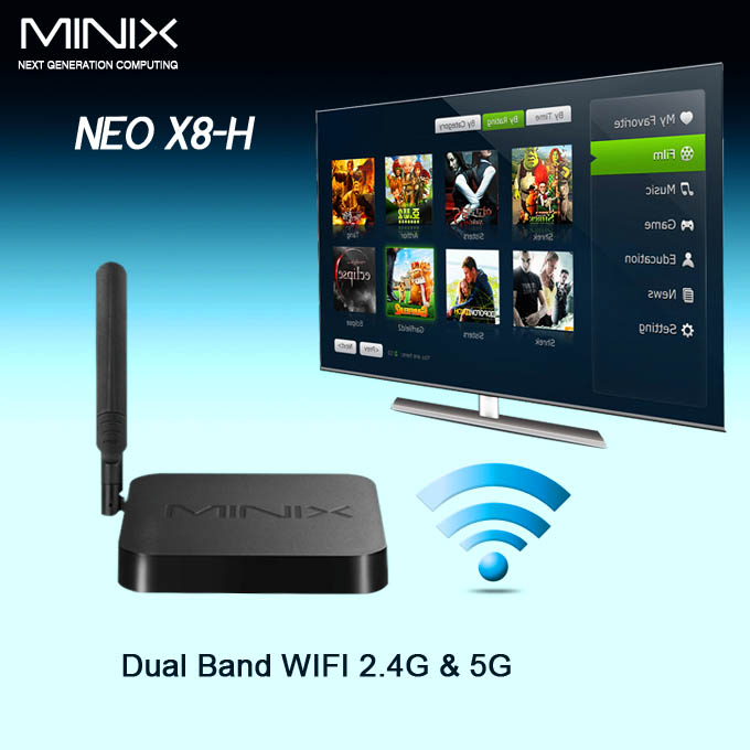 Amlogic S802-H MINIX NEO X8-H Android KitKat 4.4 Quad Core TV BOX 2G/16G BT 4.0 MINIX NEO X8H+M1 Air Mouse