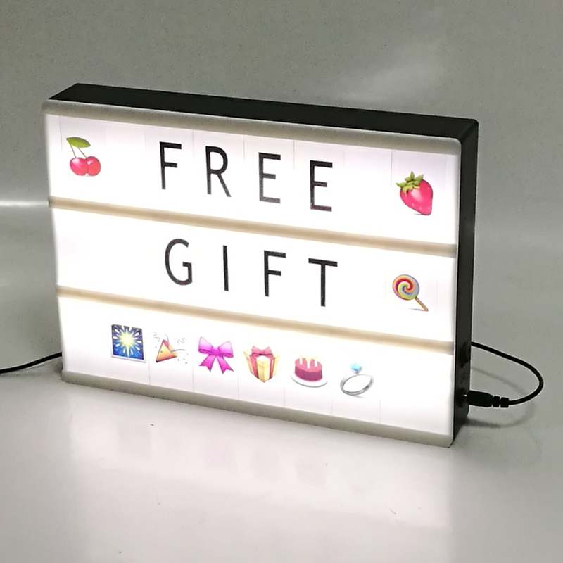 Display your own personalised message <strong>light</strong> <strong>box</strong> for Holiday gift