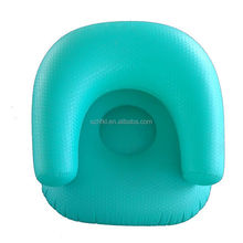 custom kids inflatable sofa chair, green kids inflatable sofa furniture