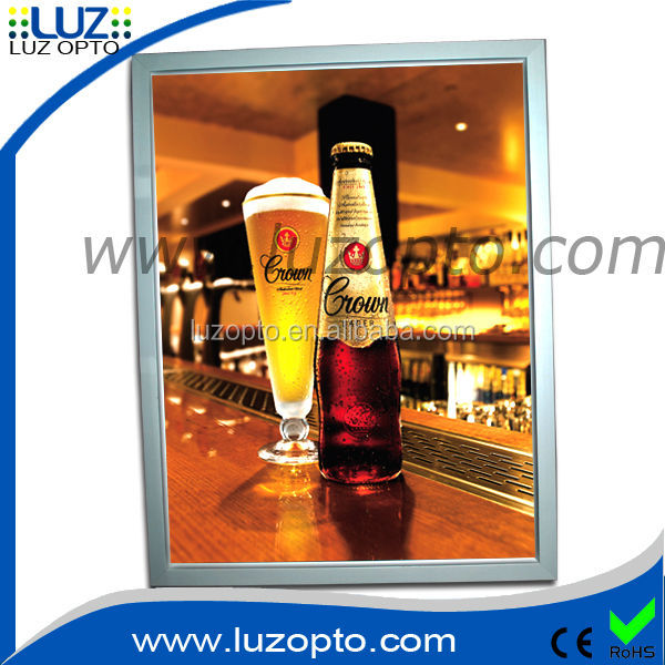 18mm deep A2 led edge light picture frames that light up