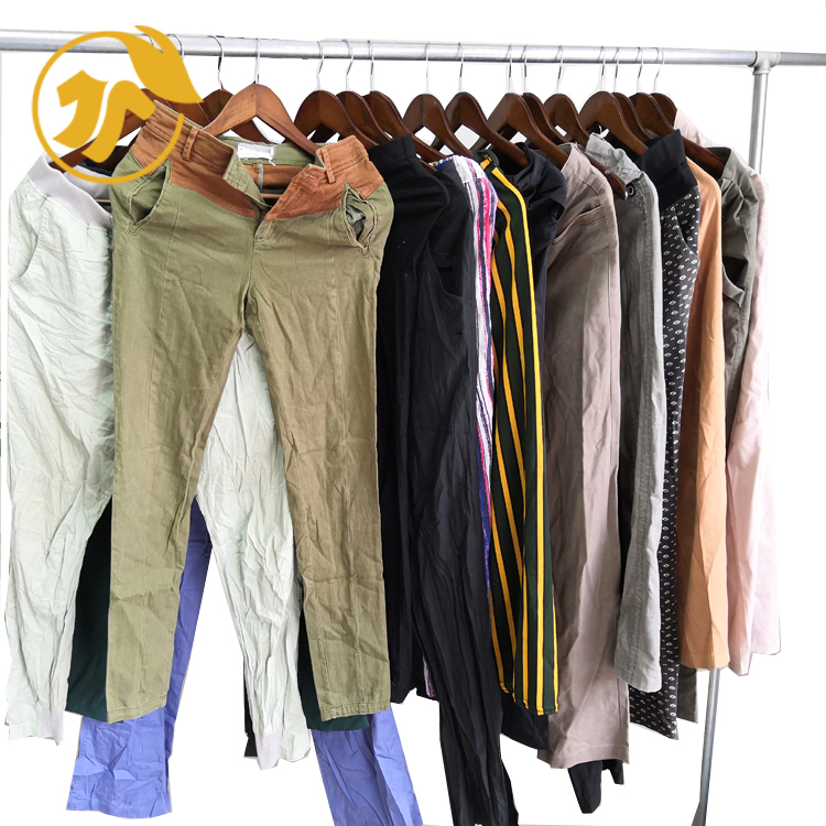 Bulk clothes  LADY CASUAL PANT AB second hand used clothing in China