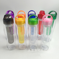new style fruit infuser bottle 700ML plastic tritan BPA free