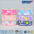 Fashion popular custom size printed flower organza ribbon