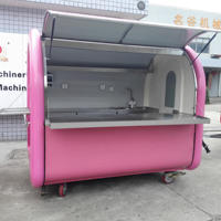 Luxury food kiosk mobile food carts for sale burger Top selling mobile food cart for slush machine