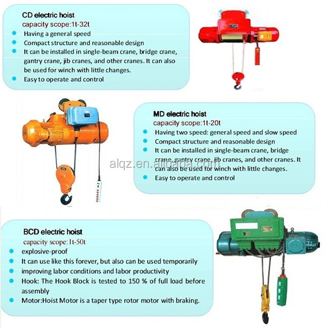 construction lifting mechanism/BCD electric hoist 5T, equipment for explosive atmospheres