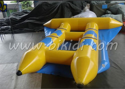 Durable inflatable flying banana water sports, inflatable flying fish towable tube for sale D3064