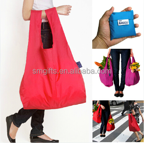 wholesale custom cheap calico foldable Shopping Bag/folding shopping bag