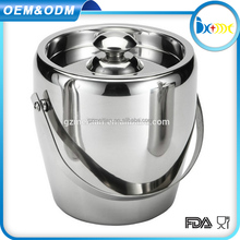 excellent quality large stainless steel ice bucket with lid from China