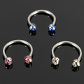 Free body jewelry samples fashion diamond circular horseshoe barbell for women