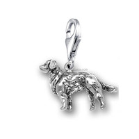 Fashion Cheap Animal Series Antique Silver Plated Long-Haired Dog Charms Jewelry