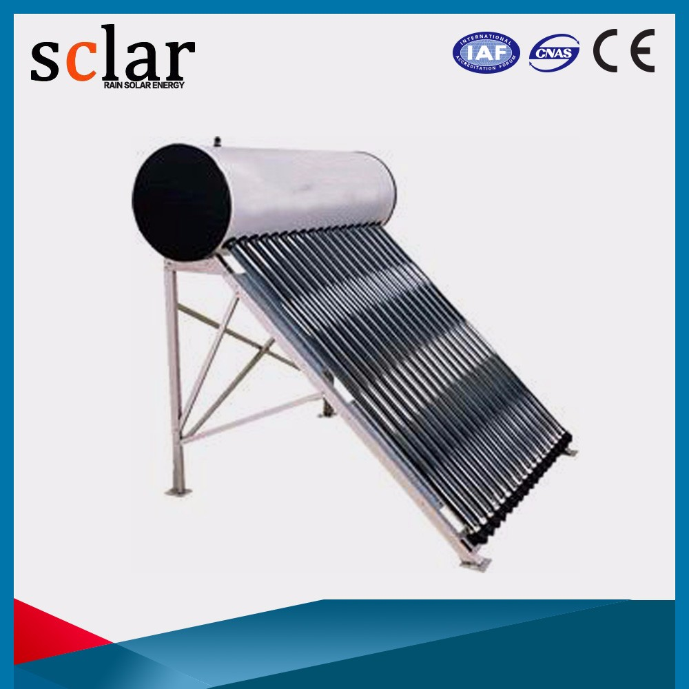 Quick operation vacuum tube low heat rejection small solar water heater