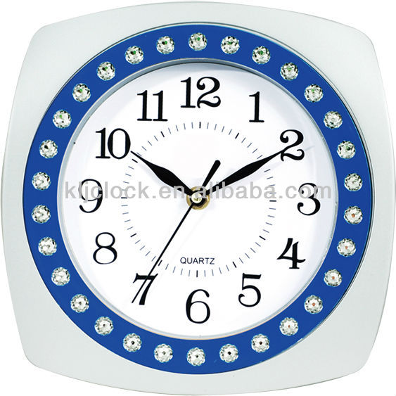 9 inch Plastic Wall Clock WH-6858 for Decoration