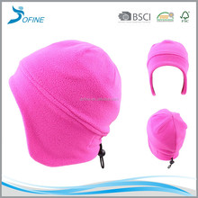 New design cheap wholesale thick warm winter windproof fleece beanie hat with earflap