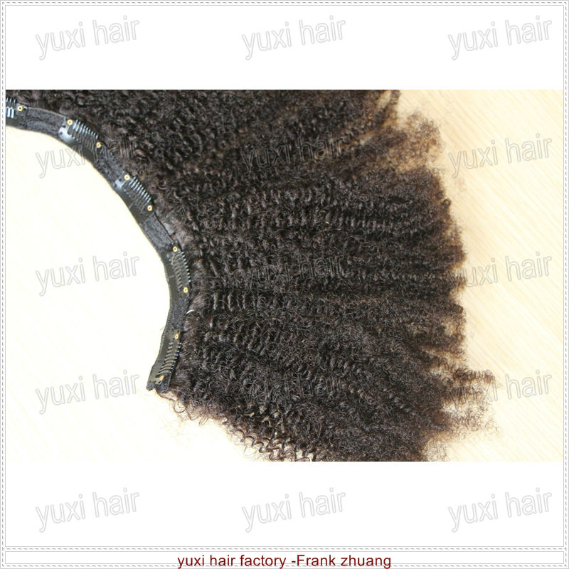 Best on sale afro kinky curly clip in/on human hair extension