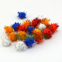 1 '' decorative glitter pom poms for kids DIY craft
