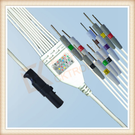 High demand <strong>products</strong> to sell Needle IEC Burdick Quinton <strong>Q</strong> Stress One Piece ECG Cable <strong>10</strong> Leadwires