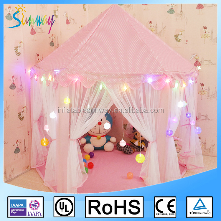 Child Payhouse Kids Pink Princess Play Castle Tent House for Girls