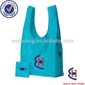Foldable cheap cloth bag with built-in pouch and customized printing available