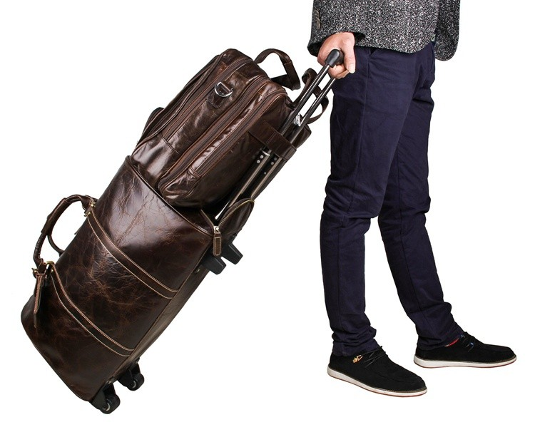 7289C JMD New Arrival 100% Genuine Leather Vintage Men's Coffee Briefcase Leather Business Travel Bag