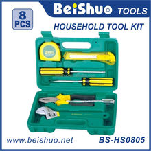 BS-HS0805 8pcs Cheap auto household metal cartridge emergency mini tool set