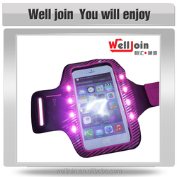 Newest Touch Screen Runing Sport Arm Bag with 8pcs LED lights