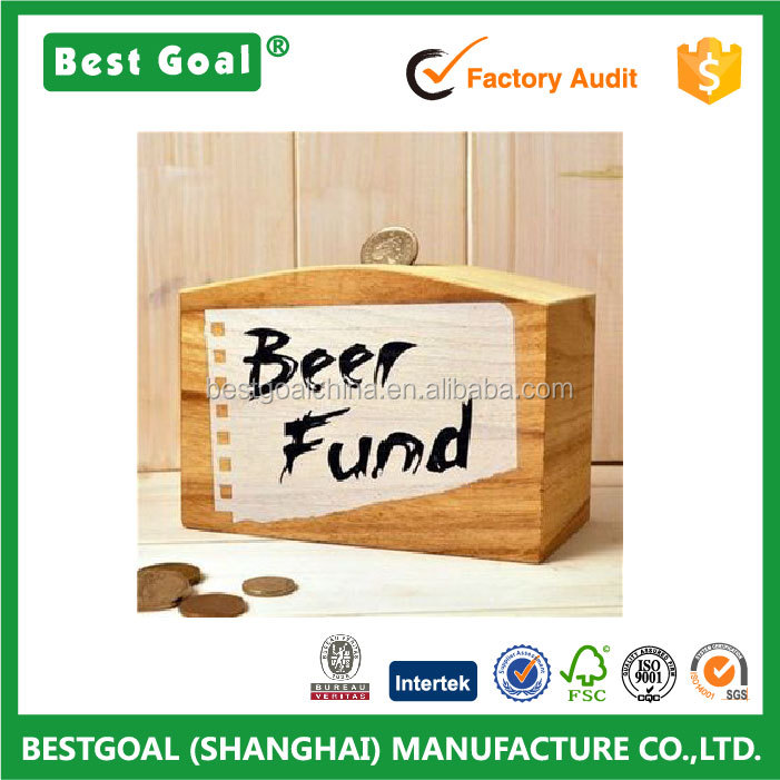 Travel Fund &Beer Fund wood Money Box